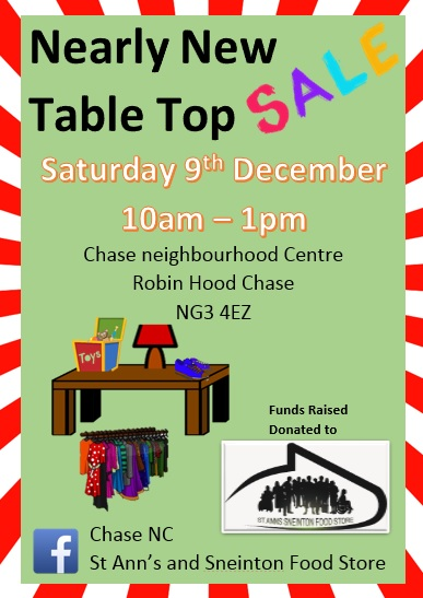 Nearly New Table Top Sale At The Chase Nc St Anns Advice